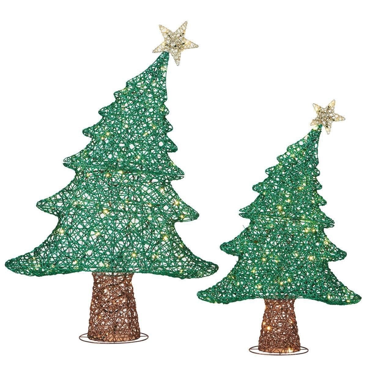 Whimsical Christmas Trees With 120 Colour Changing LED Lights Indoor ...